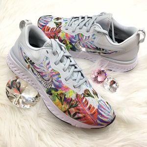 fcf4f3e0f369 Nike Shoes - Swarovski Nike Odyssey React Floral Bling Shoes